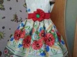Платья детские и взрослые в украинском стиле, хлопок - фото 4