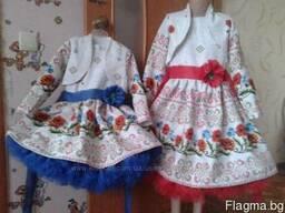 Платья детские и взрослые в украинском стиле, хлопок - фото 5