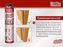 Строительный клей для теплоизоляции Teplis Spiderweb 1000мл - фото 2