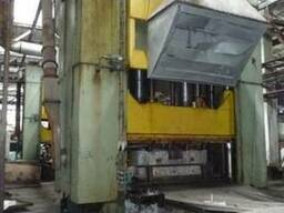 Used hydraulic press Moldmatik-450 with sliding table