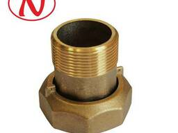 "Brass water meter coupling set - 1 1/2"" /С - фото 1"