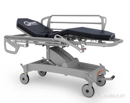 Хидравлична количка-носилка – регулируема височина – 4 секции – тренделенбург – колела ø 2