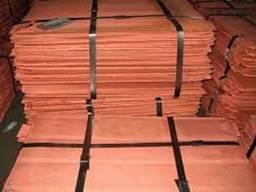 Медь Катодная пластины чистота 99, 97-99, 99% класс А