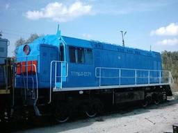 Резервни части за коловозно оборудване, дизелови локомотиви, мотриси, железопътни кранове