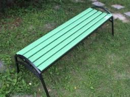 Скамейка «Эпик» пластиковая с металическим основанием