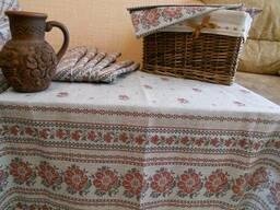 Скатерти, полотенца, фартуки, прихватки в украинском стиле - фото 3