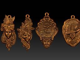 Сувениры из бронзы. Брелоки, статуэтки, напёрстки, магниты. - фото 6