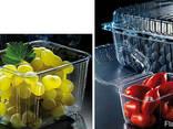 Упаковка для ягод , клубники , яиц, мяса, фрукты прозрачная - фото 1