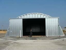 Зернохранилища стальные арочные - металлические амбары - фото 2